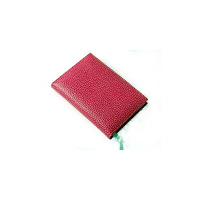 Budd Leather On the Go Pebble Grain Small Address Book in Pink