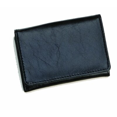 Distressed Leather Credit Card Wallet