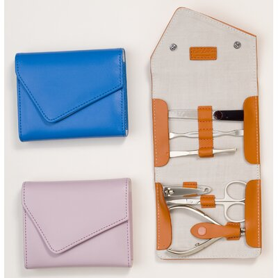 Budd Leather Leather 6 Piece Fold over Manicure Set