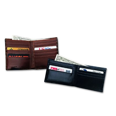 Budd Leather Crocodile Bidente Credit Card Hipster Wallet