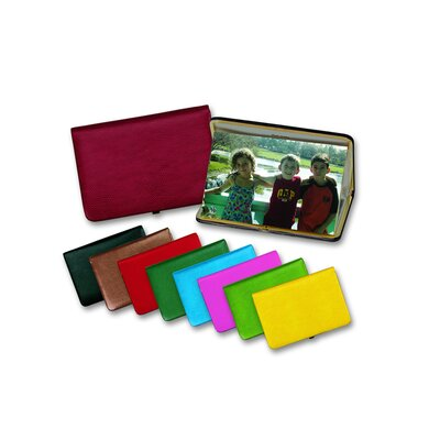 Budd Leather Lizard Grain Accessory Leather Frame Photo Case