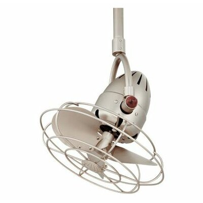 Matthews Fan Company Diane Oscillating 3 Metal Blade Ceiling Fan with Remote