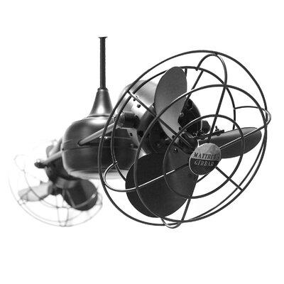 "Matthews Fan Company 36"" Duplo Dinamico 3 Metal Blade Rotational Ceiling Fan"