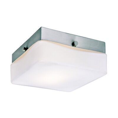Square 1 Light Flush Mount