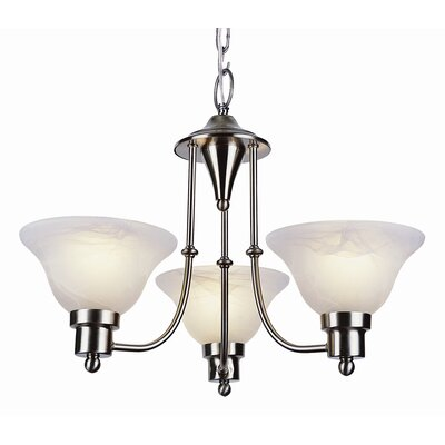 TransGlobe Lighting Contemporary 3 Light Mini Chandelier
