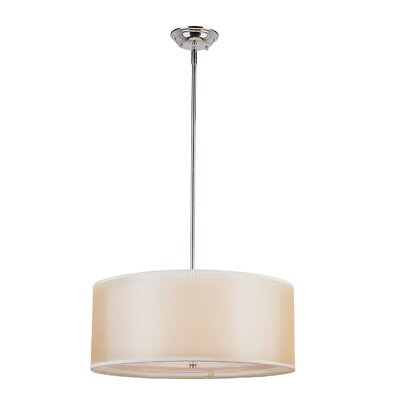 TransGlobe Lighting Metro Tempo 3 Light Kitchen Island Drum Pendant
