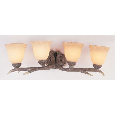 Deer Bathroom Vanity Lights : Deer Antler 4 Light Bath Vanity Light Wayfair
