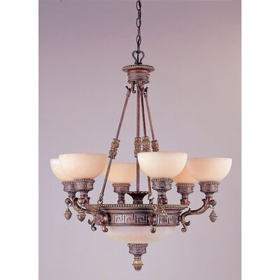 TransGlobe Lighting 9 Light Chandelier
