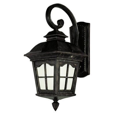 TransGlobe Lighting 1 Light Outdoor Down-Light Wall Lantern