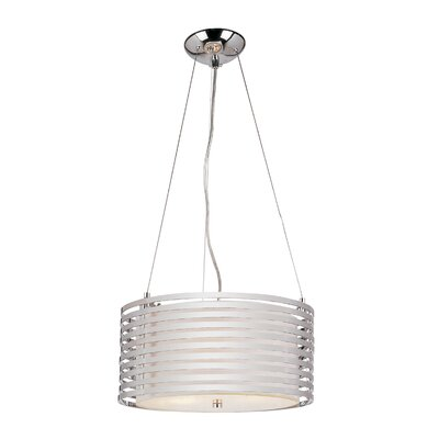 TransGlobe Lighting 4 Light Drum Pendant
