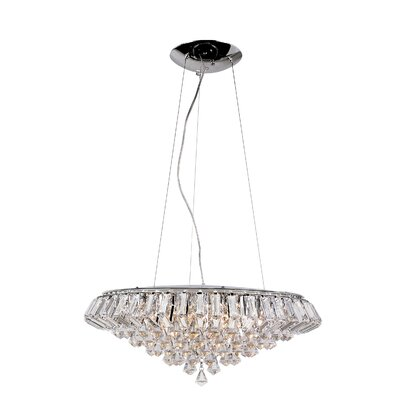 TransGlobe Lighting Contemporary Crystal 10 Light Pendant