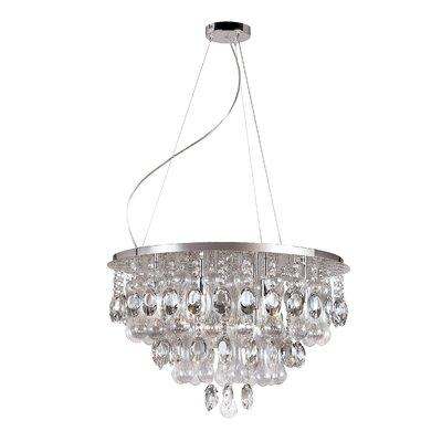 Contemporary Crystal 12 Light Pendant