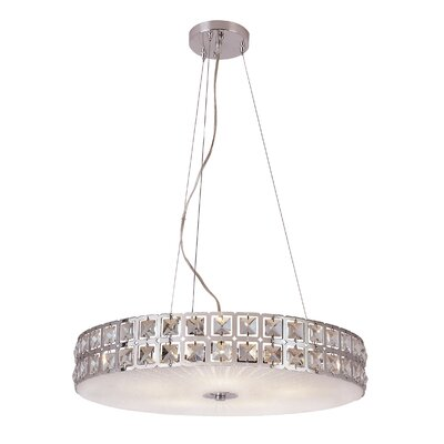 Contemporary Crystal 5 Light Pendant