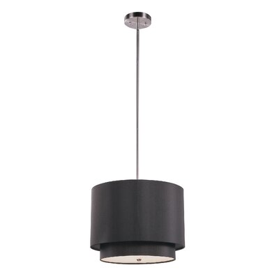 TransGlobe Lighting 3 Light Drum Pendant