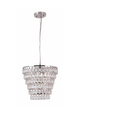 Contemporary 1 Light Crystal Pendant