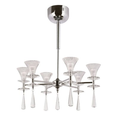 <strong>TransGlobe Lighting</strong> 6 Light Chandelier with Shade