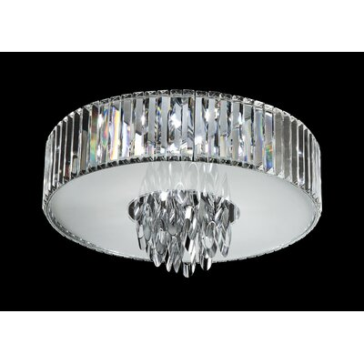 TransGlobe Lighting Chimes 4 Light Flush Mount