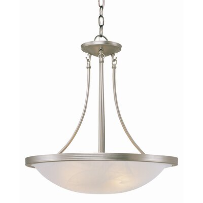 TransGlobe Lighting 3 Light Inverted Pendant