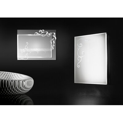 Touch Design Curly Square Mirror 2 Light Wall Lamp