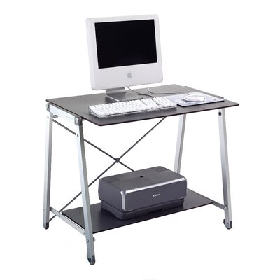 Rexite Banco Light Computer Desk with Pull-Out Keyboard Tray