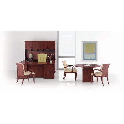 Paoli Prominence Bow Top Right Pedestal U-Shape Desk Office Suite