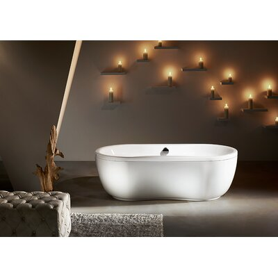 "Kaldewei Mega Duo 71"" x 35"" Oval Bathtub with Molded Panel"