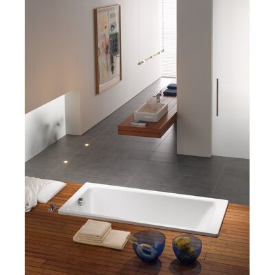 "Kaldewei Puro 71"" x 32"" Three Wall Bathtub with Reversible Drain"