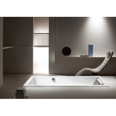 "Kaldewei Puro 63"" x 28"" Three Wall Bathtub with Reversible Drain"