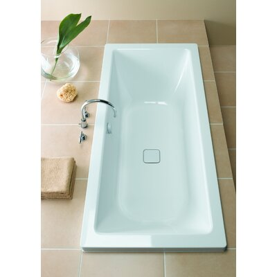 "Kaldewei 67 X 29.5"" ConoDuo - 4080 drain adapter included Three Wall Tub with Reversible Drain, Feet Included"