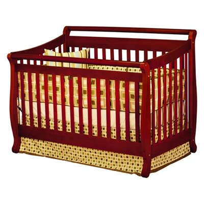 AFG Furniture Athena Amy Convertible Crib with Toddler Rail in Cherry