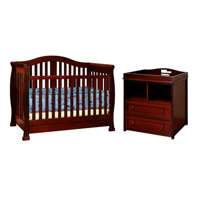 AFG Furniture Spring 3-in-1 Convertible Crib Set