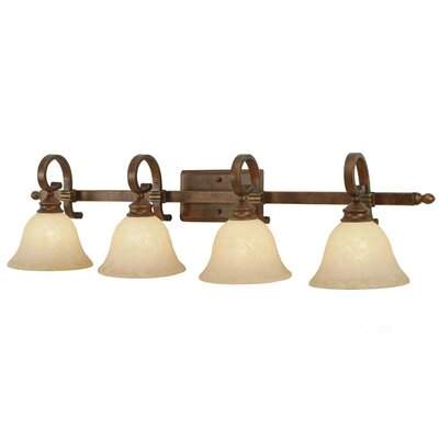 Golden Lighting Rockefeller 4 Light Bath Vanity Light