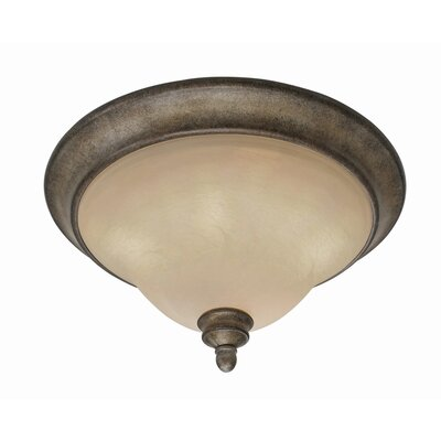 Golden Lighting Rockefeller 3 Lights 60W Flush Mount