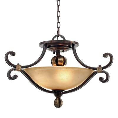 Portland 3 Light Convertible Inverted Pendant