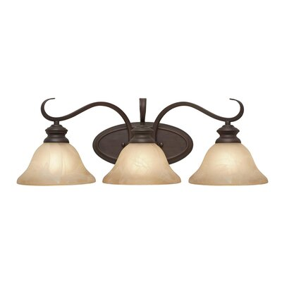 Golden Lighting Lancaster 3 Light Bath Vanity Light