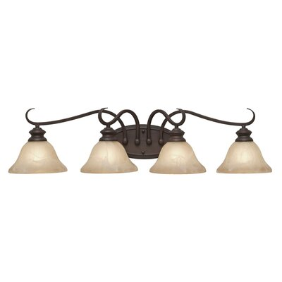 Lancaster Vanity Light in Rubbed Bronze