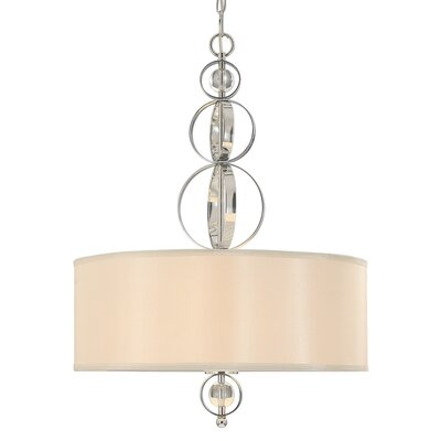 Cerchi 3 Light Drum Pendant