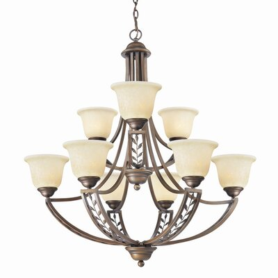 Woodbriar 9 Light Chandelier