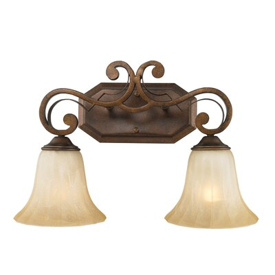 Golden Lighting Pemberly Court 2 Light Bath Vanity Light