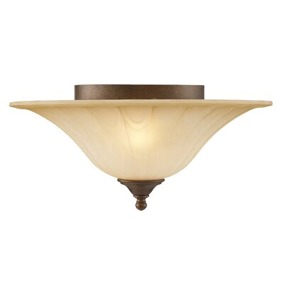 Golden Lighting Pemberly Court 2 Light Flush Mount
