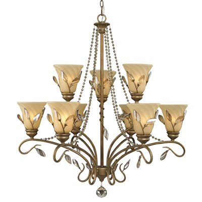 Golden Lighting Beau Jardin 9 Light Chandelier