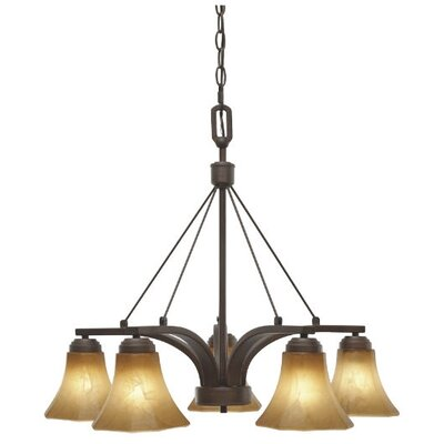 Golden Lighting Accurian 5 Light Nook Chandelier