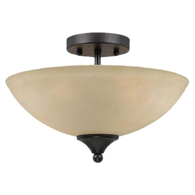 Value Series 2 Light 60W Semi Flush Mount