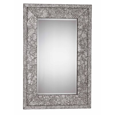 "Triarch Lighting Jewelry 46"" x 30"" Mirror in Brushed Steel"