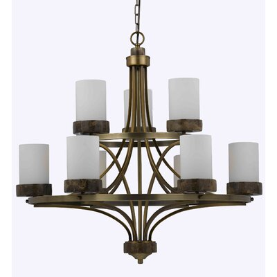 Triarch Lighting Travertino 9 Light Chandelier