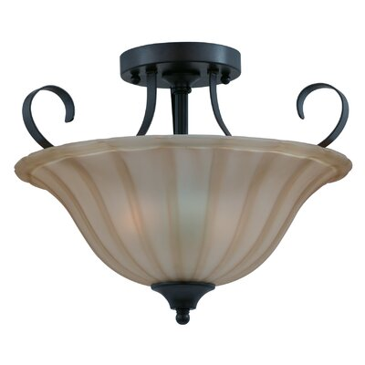 Triarch Lighting Value Series 2 Light Semi Flush Mount
