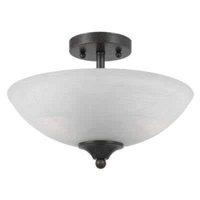 Triarch Lighting Value Series 280 2 Light Semi Flush Mount