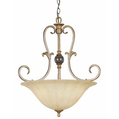Triarch Lighting Fleur De Lis 3 Light Inverted Pendant