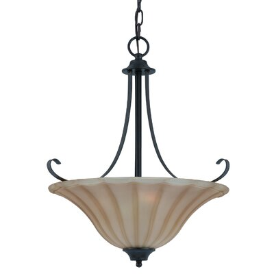 Triarch Lighting Value Series 3 Light Inverted Pendant