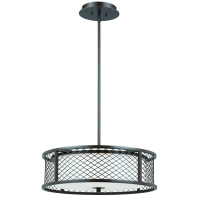 Chainlink 4 Light Drum Foyer Pendant